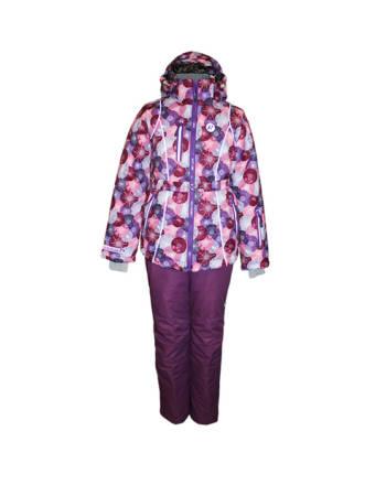 Костюм детский утеплённый (девочки) М-191 (Снежные круги)